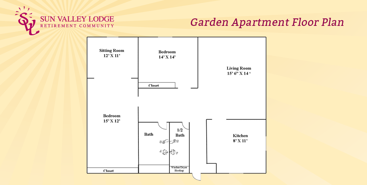 Garden Apartment - 1200 sq. ft.