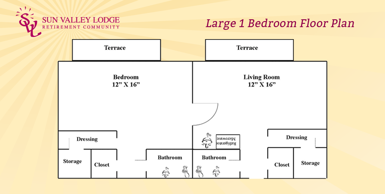 Large 1 Bedroom - 650 sq. ft.